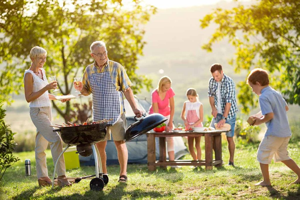 Family Glamping BBQ